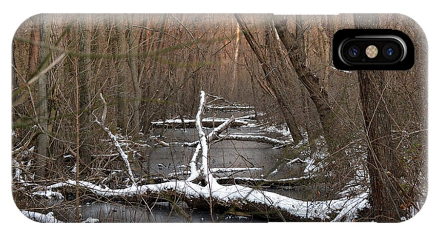 Logs IPhone X Case featuring the photograph Salty Logs by Bill Helman