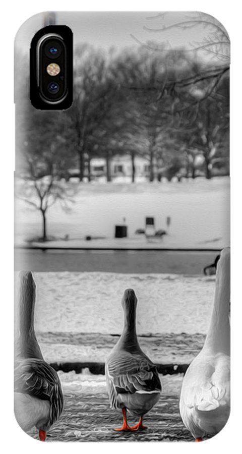 Ducks IPhone X Case featuring the photograph Salute by Kelvin Booker
