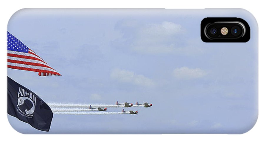 Sun N Fun 2014 IPhone X Case featuring the photograph Salute by Laurie Perry