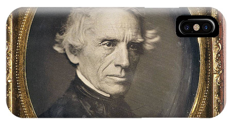 1845 IPhone X Case featuring the photograph Samuel Finley Breese Morse by Granger