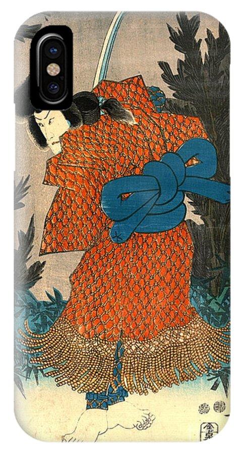Samurai Actor 1847 R IPhone X Case featuring the photograph Samurai Actor 1847 R by Padre Art