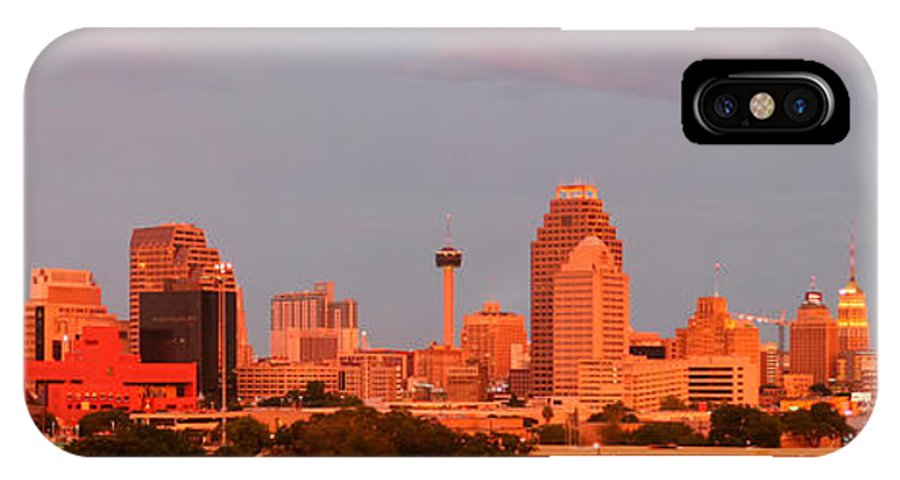 San Antonio IPhone X Case featuring the photograph San Antonio - Skyline At Last Light by Randy Smith