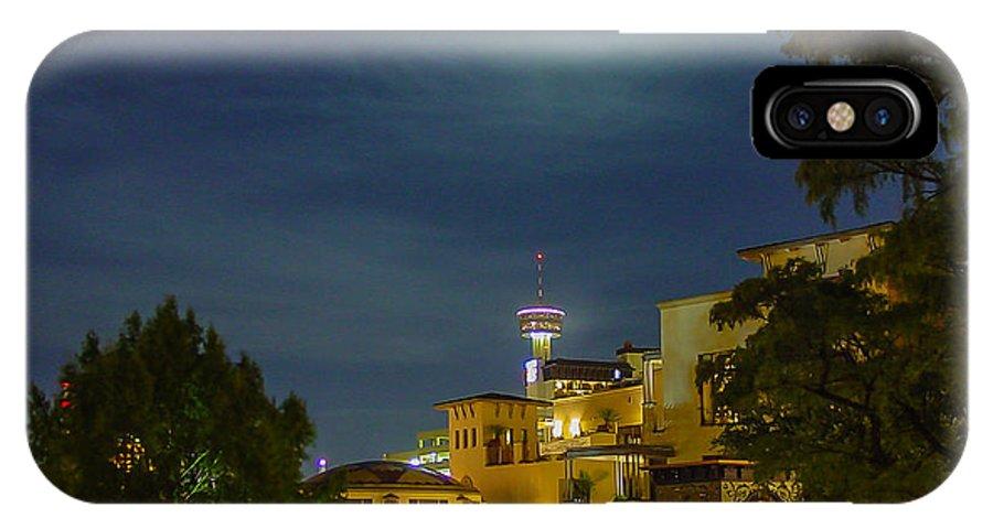 San Antonio IPhone X Case featuring the photograph San Antonio Cityscape by Allen Sheffield