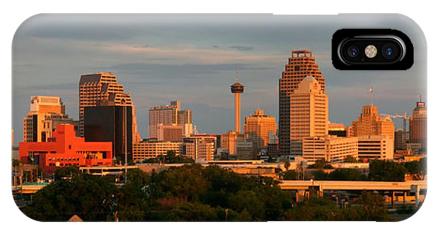 San Antonio IPhone X Case featuring the photograph San Antonio - Skyline At Sunset by Randy Smith
