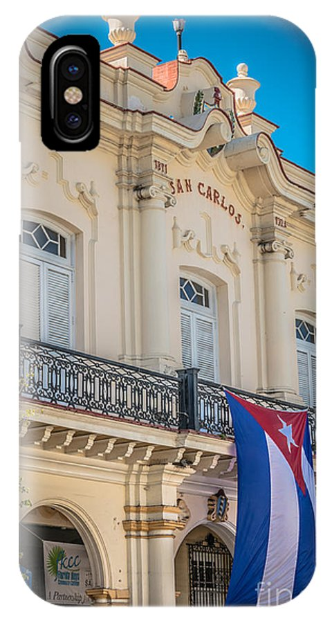 America IPhone X Case featuring the photograph San Carlos Institute Key West - Hdr Style by Ian Monk