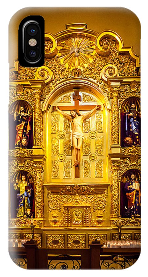 Cathedral IPhone X Case featuring the photograph San Fernando Alter by Melinda Ledsome