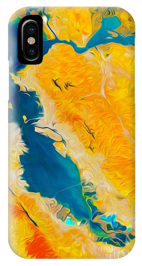 San Francisco IPhone X Case featuring the digital art San Francisco by Phill Petrovic
