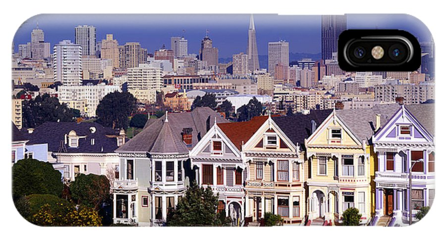 San Francisco IPhone X Case featuring the photograph San Francisco Skyline From Alamo Square by Historic Vantage