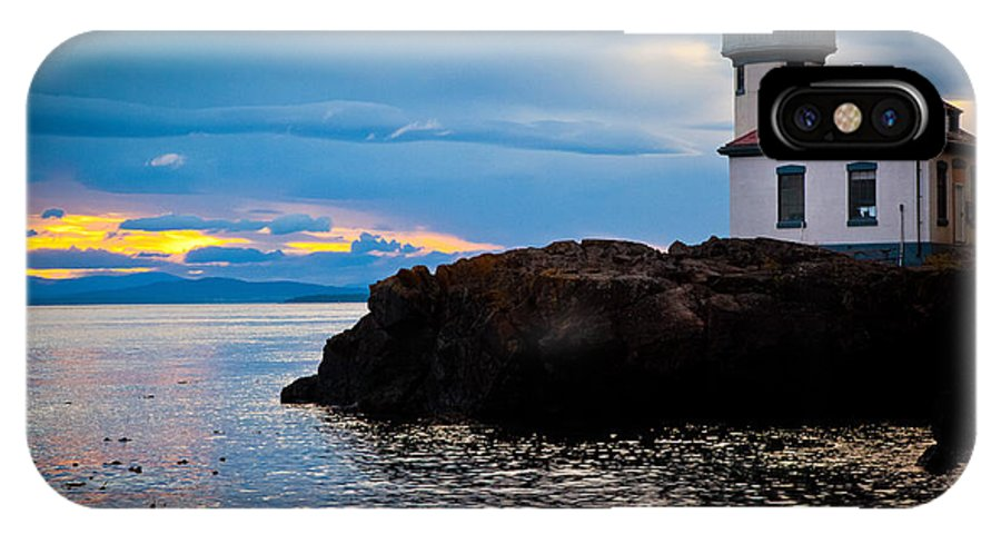 America IPhone X Case featuring the photograph San Juan Dreaming by Inge Johnsson