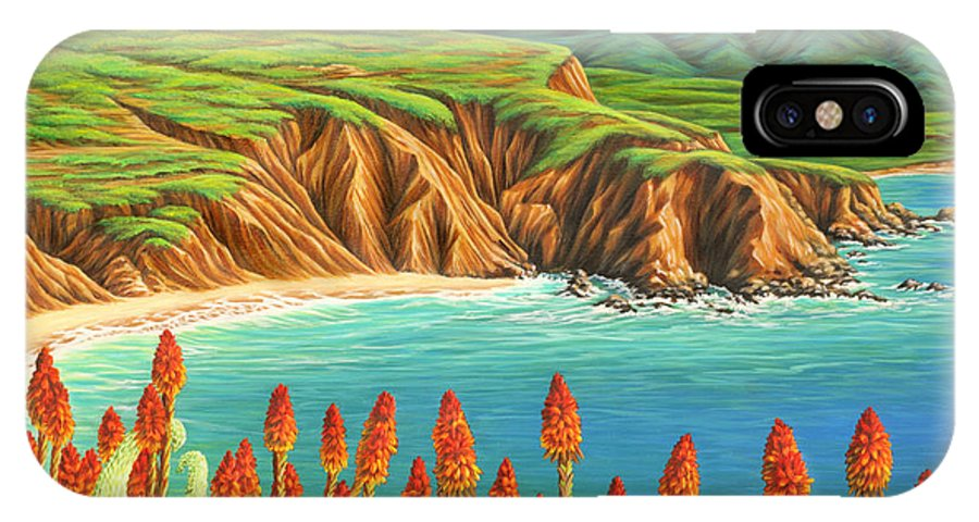 Ocean IPhone Case featuring the painting San Mateo Springtime by Jane Girardot