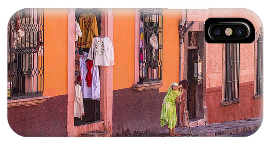 San Miguel IPhone X Case featuring the photograph San Miguel Shop by Lindley Johnson