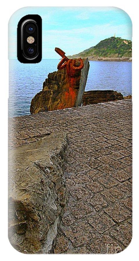 Donostia IPhone X Case featuring the photograph San Sebastian 22 by Mariusz Czajkowski