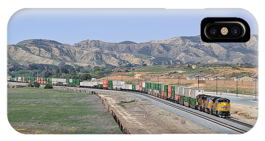 Union Pacific IPhone X Case featuring the photograph San Timoteo1 by Ed Krimmer