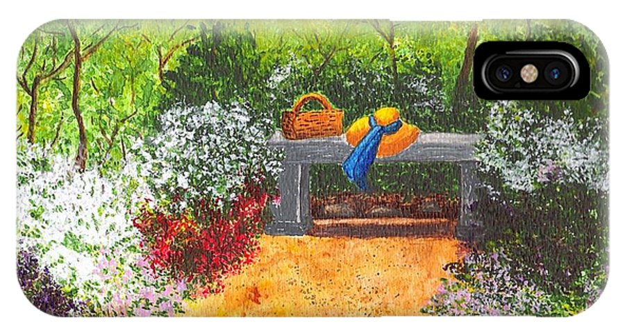 Garden Painting IPhone Case featuring the painting Sanctuary by Patricia Griffin Brett