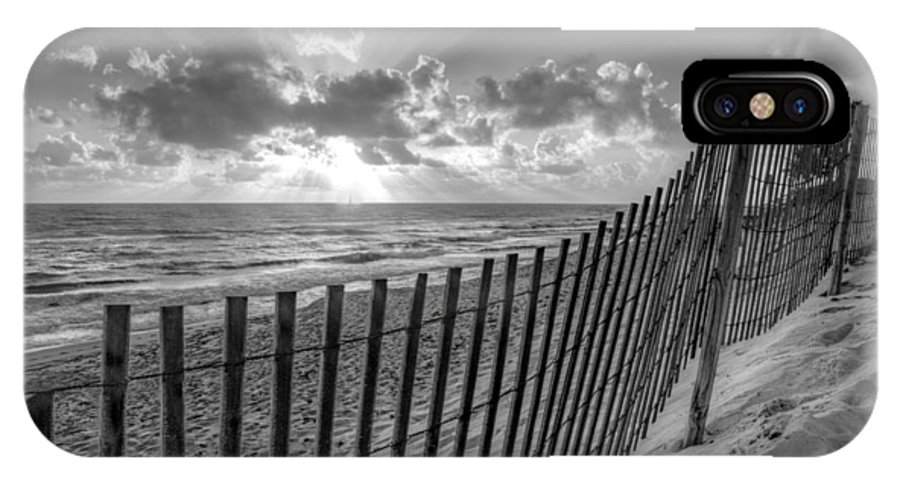 Atlantic IPhone X Case featuring the photograph Sand Dunes In Black And White by Debra and Dave Vanderlaan