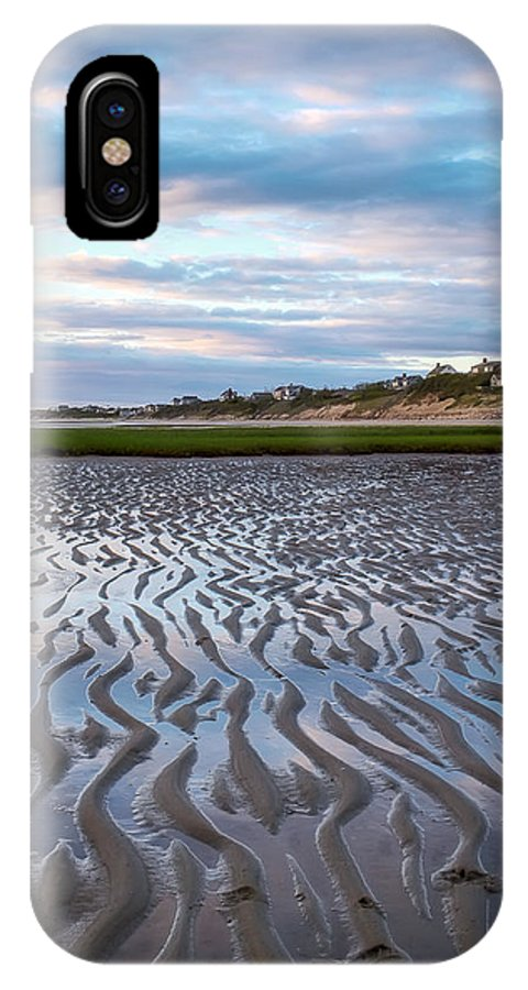 Cape Cod IPhone X Case featuring the photograph Sand Ripples by Katherine Hawkins