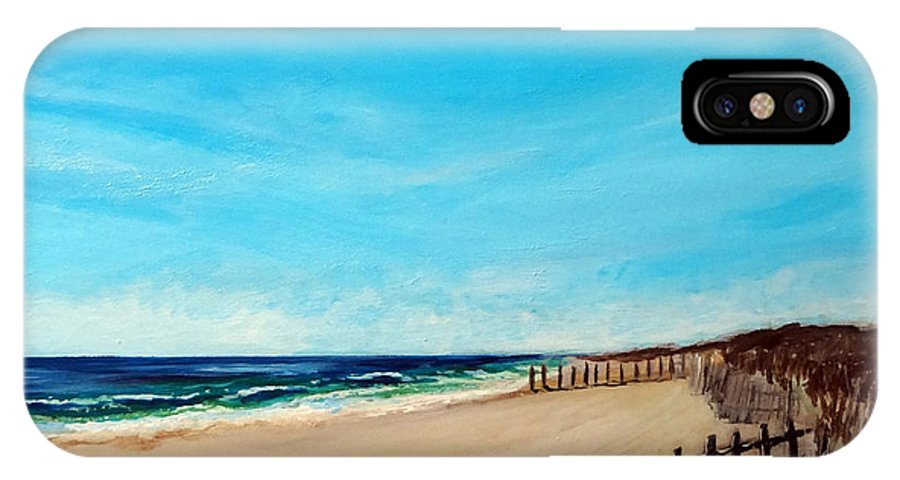Seascape IPhone X Case featuring the painting Sandbridge Virginia Beach by Katy Hawk