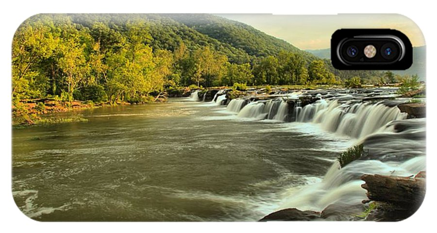 West Virginia Waterfalls IPhone X Case featuring the photograph Sandstone by Adam Jewell