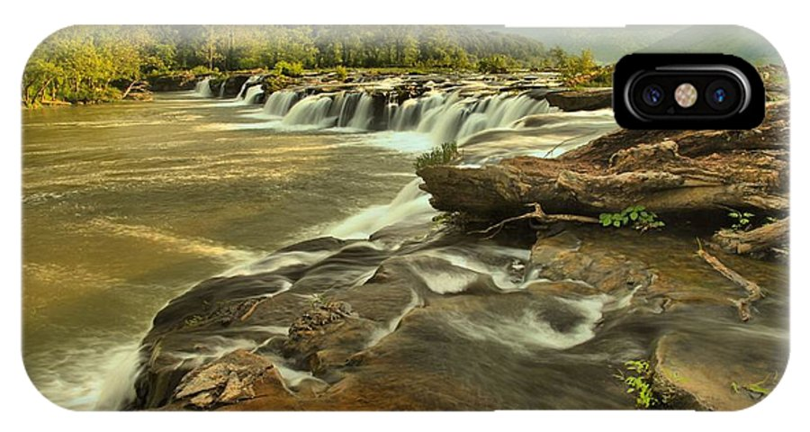 West Virginia Waterfalls IPhone X Case featuring the photograph Sandstone Falls Landscape by Adam Jewell