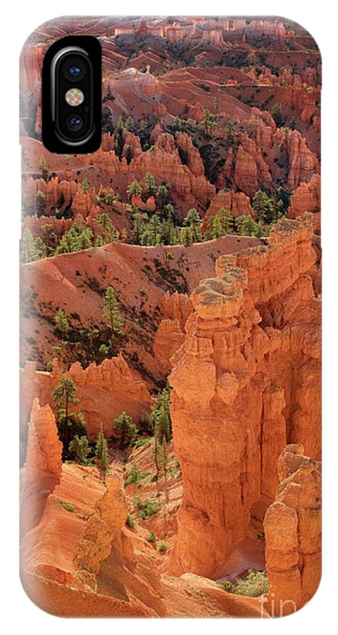 North America IPhone X Case featuring the photograph Sandstone Hoodoos At Sunrise Bryce Canyon National Park Utah by Dave Welling