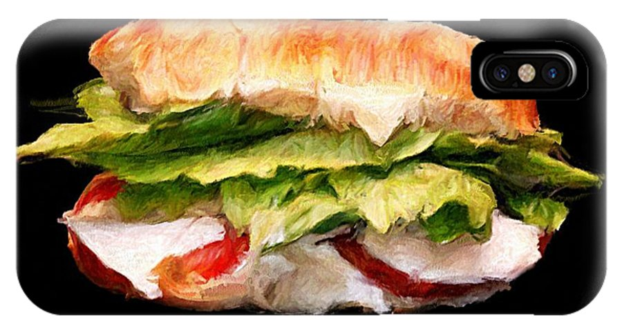 Sandwich IPhone X Case featuring the digital art Sandwich Time by Brian Sasse