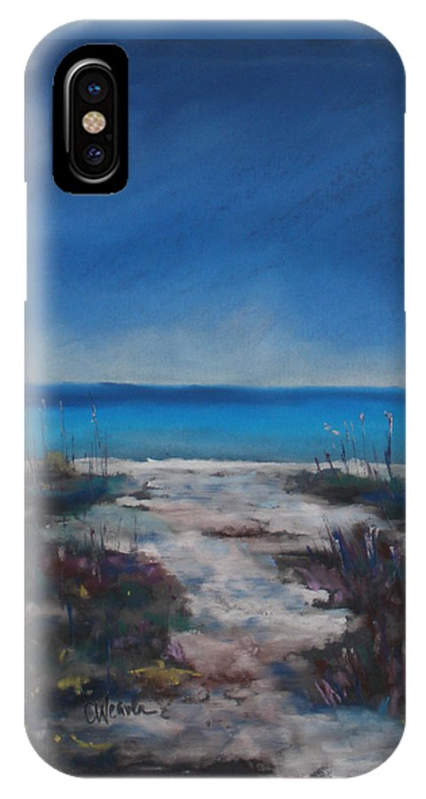 Ocean IPhone X Case featuring the painting Sanibel by Cathy Weaver