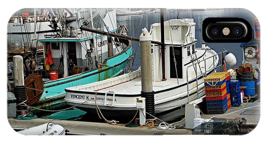 Santa Barbara Fishing Boats IPhone X Case featuring the photograph Santa Barbara Fishing Boats by See My Photos