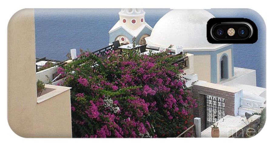 Santorini IPhone X Case featuring the photograph Santorini Greece by Teresa Ruiz
