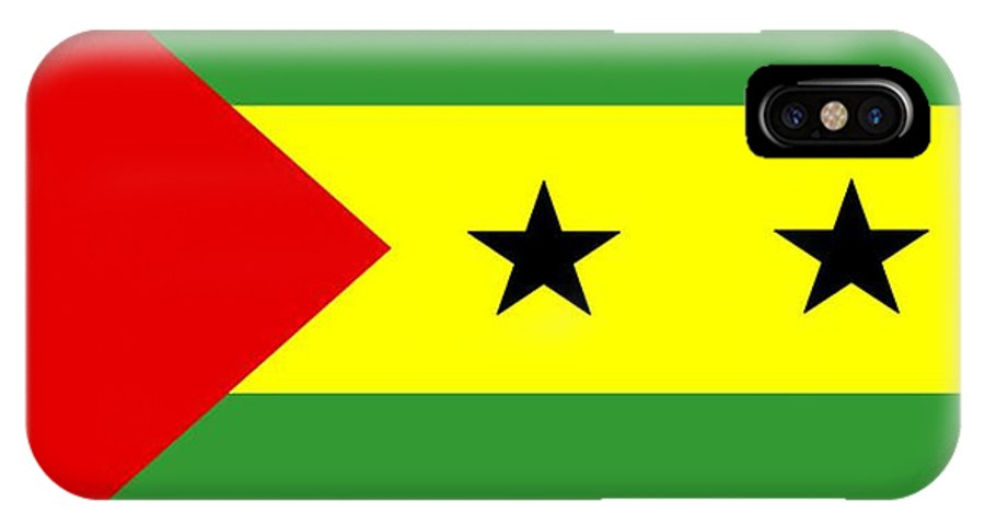 Sao Tome IPhone X Case featuring the digital art Sao Tome And Principe Flag by Frederick Holiday
