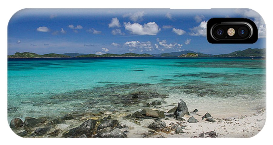 St. Thomas IPhone X Case featuring the digital art Saphire Beach by Thomas Kaestner