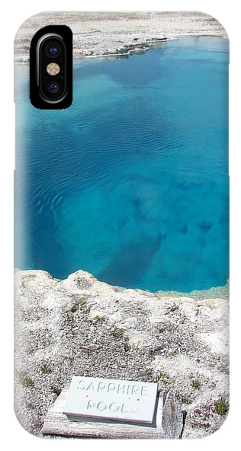 Yellowstone National Park IPhone X Case featuring the photograph Sapphire Pool by Cindy Goshko
