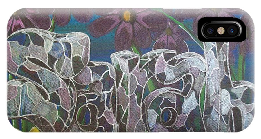 Acrylic Painting IPhone X Case featuring the painting Sarah by Gerard Provost