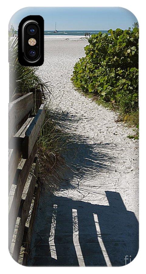 Sarasota Beach Walk Path. IPhone X / XS Case featuring the photograph Sarasota Beach Walk Path. by Robert Birkenes