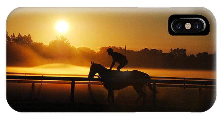 Saratoga IPhone X Case featuring the photograph Saratoga Sunrise by George Fredericks