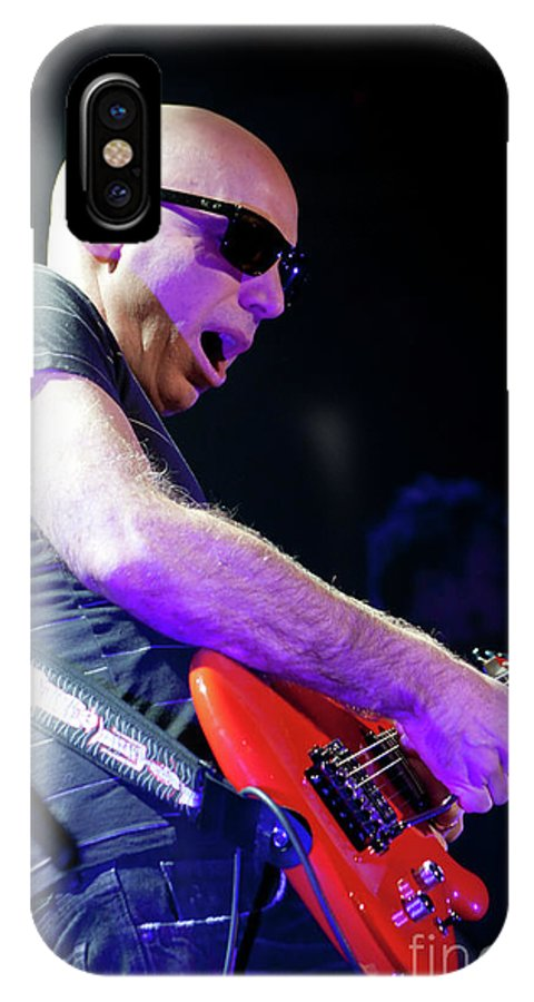 Joe Satriani IPhone X Case featuring the photograph Satriani 3117 by Timothy Bischoff