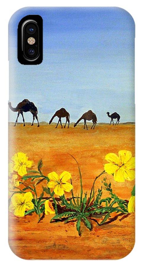 Saudi Arabia IPhone X Case featuring the painting Saudi Arabian Desert by William Tremble
