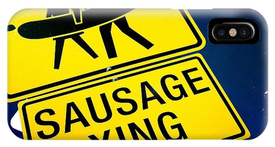 Sausage Crossing IPhone X / XS Case featuring the photograph Sausage Crossing by Nina Prommer