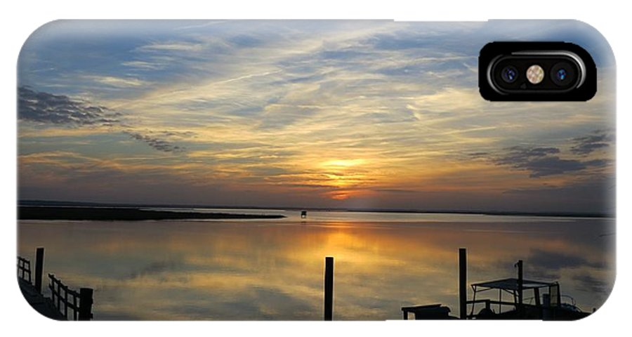 Landscape IPhone X Case featuring the photograph Savannah Marina by Todd Smith