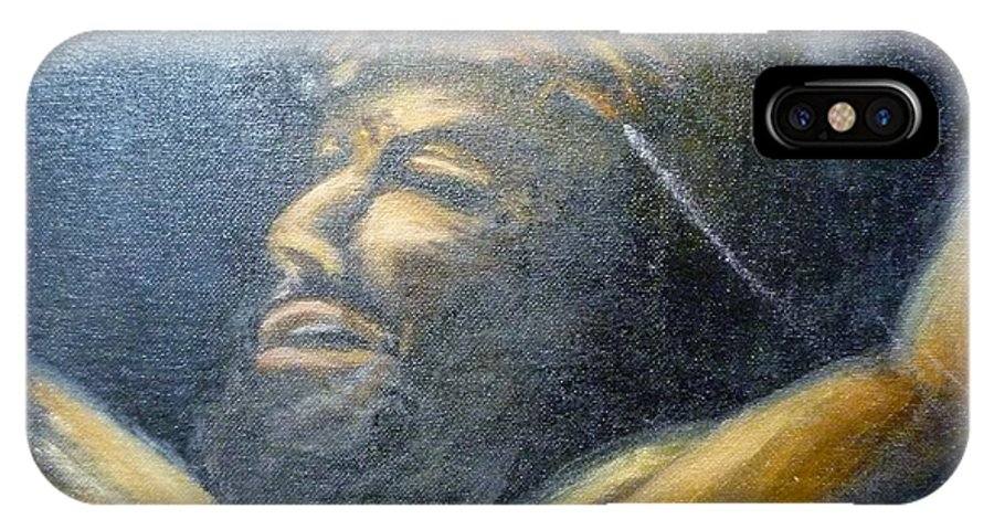 Jesus IPhone X Case featuring the painting Savior by Beverly Hanni