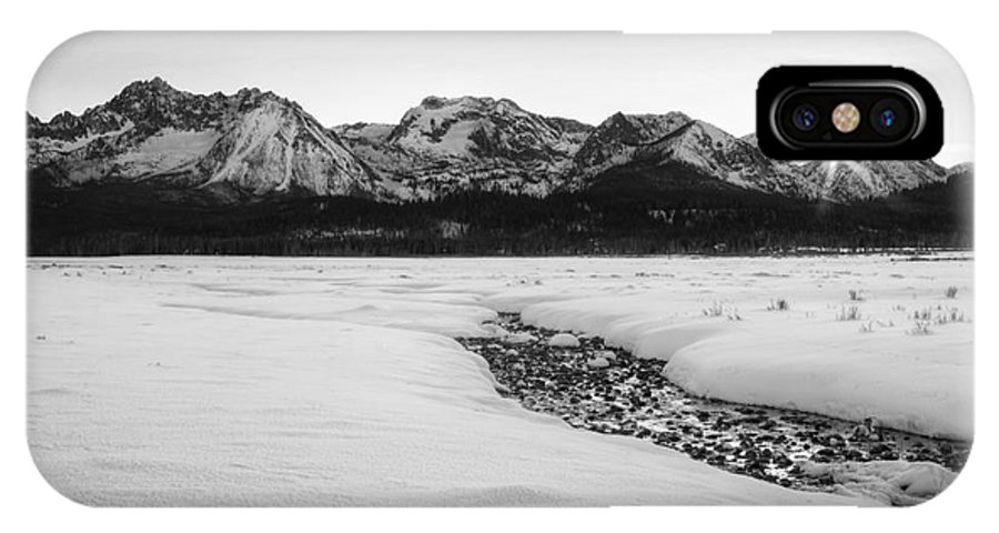 January IPhone X Case featuring the photograph Sawtooth Sun by Idaho Scenic Images Linda Lantzy