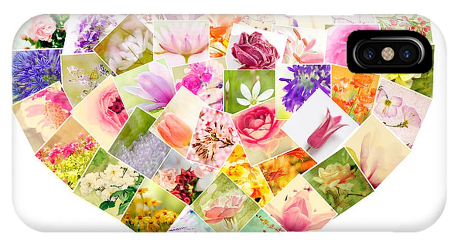 Flowers IPhone X Case featuring the photograph Say It With Flowers by Linde Townsend