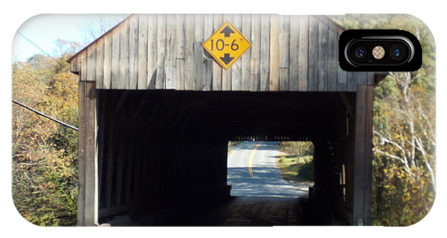 Sayres Bridge IPhone X Case featuring the photograph Sayres Covered Bridge by Catherine Gagne