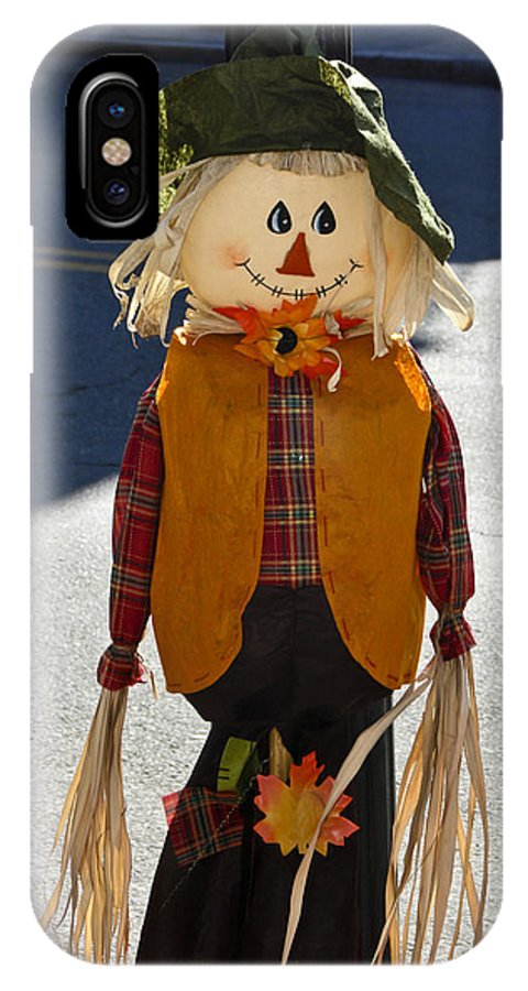 Halloween IPhone X Case featuring the photograph Scarecrow 4 by Dennis Coates