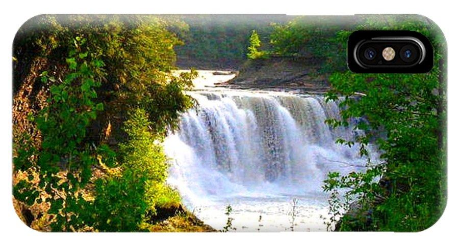 Falls IPhone X Case featuring the photograph Scenic Falls by Rhonda Barrett