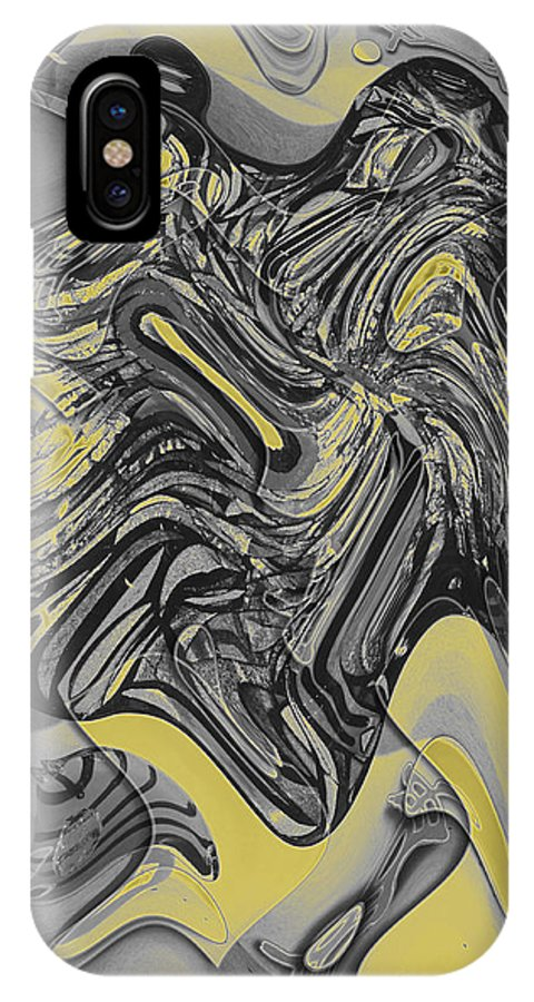 Abstract IPhone X Case featuring the digital art Scheherazade Glow by John Saunders