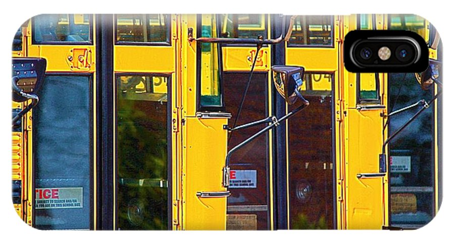 School Bus Abstract IPhone X Case featuring the photograph School Bus by John Illingworth