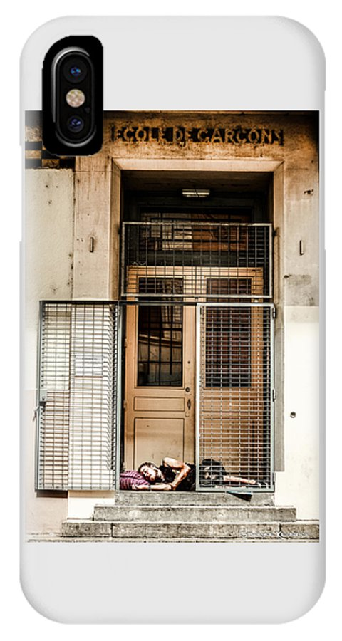 School IPhone X Case featuring the photograph School Closure by Stwayne Keubrick