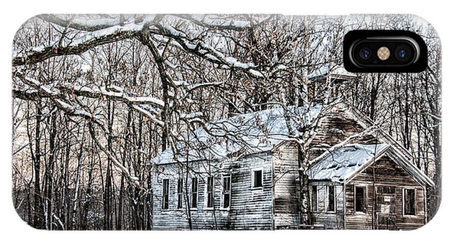 Old School House IPhone X Case featuring the photograph School Out Forever by Paul Freidlund