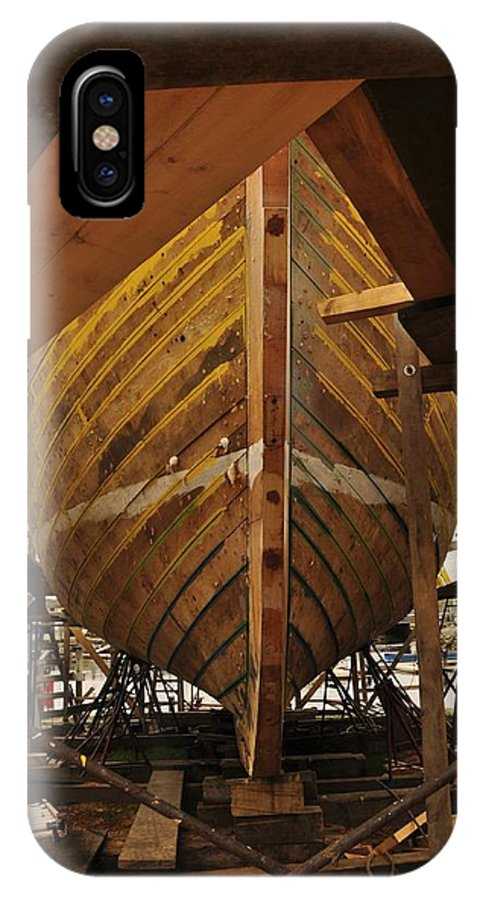 Schooner IPhone X Case featuring the photograph Schooner Ardelle Planked by Michael Dyer