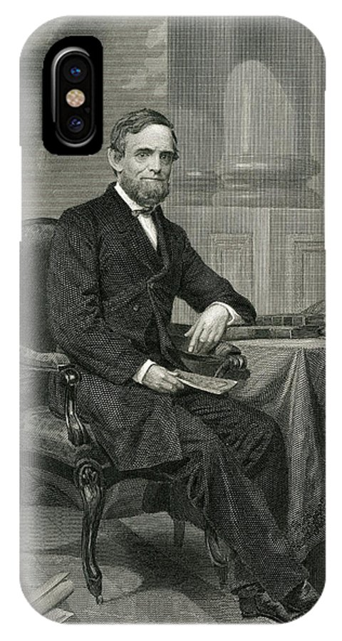 Schuyler IPhone X Case featuring the drawing Schuyler Colfax American Statesman by Mary Evans Picture Library